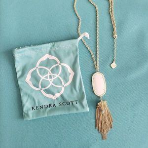 KENDRA SCOTT Rayne Gold Tassel Necklace